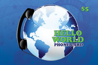 Hello World Phone Card $5 - International Calling Cards