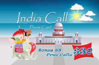 India Call $30 - International Calling Cards